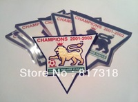 free shipping 2001-2002 EPL Premier League gold champion patch  Football patch Soccer Patch soccer badge