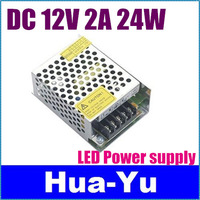 Free shipping+1pcs 12V 2A 24W Switching led Power Supply non-waterproof led driver for indoor for 3528/5050 LED strips