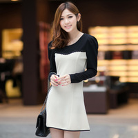 "The new 2014 ""Women 's blouses. Long-sleeved women cultivate one's morality render big yards dress women T-shirt. Pencil dresses"