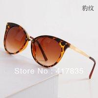 Free Shipping  Fashion Cat Eye Sunglasses Brand Sunglasses Lady UV Woman Sunglasses 5 Colors