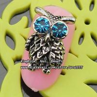 rh970 3d skull  alloy nail art decoration jewelry accessory free shipping wholesale 50pcs DIY metal nail stuff