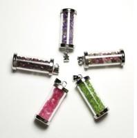 Natural crystal wishing bottle pendant bottle gift pendant color 5pcs/lot