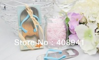 Free Shipping+Wholesale Pop the Top nice flip flop bottle opener wedding favors,gift packaging,300pcs/lot