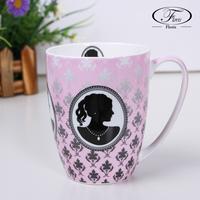 Girl bone china cup home ceramic cups fashion mug milk cup