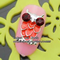 rh960 New wholesale lot 50 pcs alloy nail art decorations tie bow DIY decoration free shipping jewelry white black