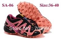 Free Shipping 2014 New Arrived Salomon Walking Shoes women and Men Athletic Shoes Running shoes ,men sports shoes size36-45