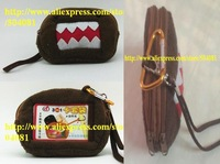 1 pcs CUTE Squre DOMO Plush Coin Purse & Wallet Pouch Bag Case; Pendant Chain Purse Bag Case Pouch BAG Wallet Handbag