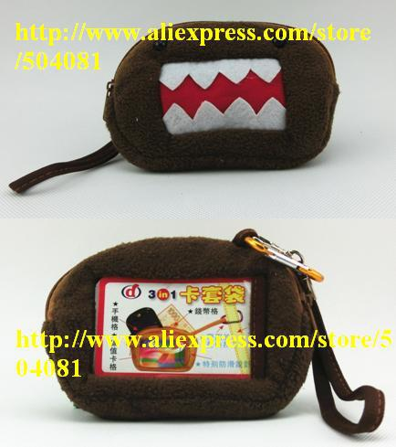 1pc Japanese Kawaii Cute Plush Domo Kun Wallet Mini Purse For Men Boy Small Domo-Kun Cartoon Bag Animal Print Novelty domokun(China (Mainland))
