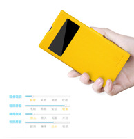 Yellow color New Nillkin Fresh Flip PU Leather Hard Cover Case For Sony Xperia Z1 L39H Honami with Screen Film