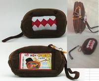 5PCS Plush Japan DOMO KUN Cell Mobile Phone BAG Pouch Case; Wrist Coin Purse & Wallet BAG Pouch Case Pack
