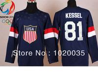 2014 Sochi Winter Olympic Team USA #81 Phil Kessel Dark Blue NHL Jerseys Hockey Jersey ICE Winter Free Shipping