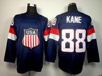 2014 Sochi Olympic Team USA #88 Patrick Kane Blue Ice Hockey Jerseys Emboridered Logo New with tag SIZE S-L-XL-XXL-XXXL