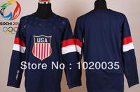 2014 Sochi Winter Olympics Team USA Blank Mens Ice Hockey ,Home & Away American Jerseys,Accept Mix Order.