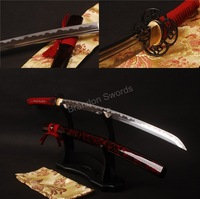 Details about Red ito samurai sword Full tang katana 1095 carbon steel sharp knives can cut