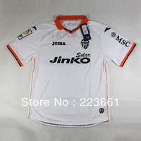 2013-2014 season thailand quality shirts valencia white home jerseys