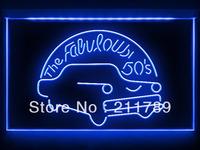 AC055 B The Car 50's LED Light Sign