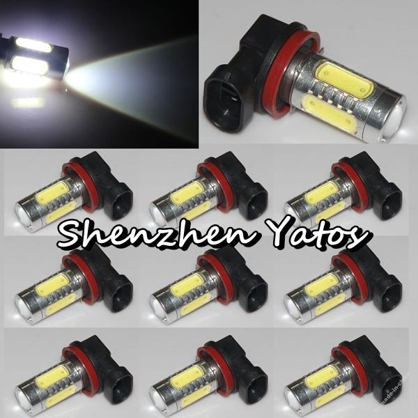 2pcs H11 H8 High Power 11W LED Cree Constant Currency DC 10v-24v White HeadLight LED Bulb Fog Lamp(China (Mainland))