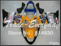 Complete fairing kit fit for CBR600 F4i 2001 2002 2003 CBR600 F4i 01 02 03  CBR 600 Yellow Black White 10C23