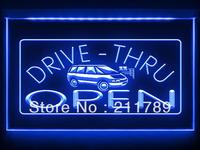 AC058 B OPEN Drive Thru Car Displays Bar Pub Light Sign