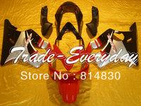 Complete fairing kit fit for CBR600 F4i 2004 2005 2006 2007 CBR600 F4i 04 05 06 07  CBR 600 Gray Red 10D21