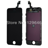 1000% Test New For iphone 5S  LCD Display+Touch Screen digitizer+Frame assembly Black color Free shipping