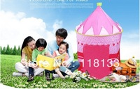100pcs/lot Lovely Prince & Princess Palace Castle Children Play Tent Toy Indoor & Outdoor,blue and pink colors mixed