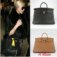 2014 Designer Bag!Top Chic Women's Genuine Leather Totes With Lichee Pattern,Shoulder Bag,Female's Bag,Big Discount 40 cm