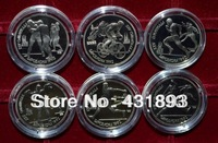 MIX6 Order Russia Ussr -Proof 1 Rouble 1992 zinc -alloy Coin /1991 Year Barcelona Olympic Runners 600PCS/LOT Free Shipping