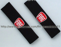 free shipping 1pair (1pair=2pcs) Fiat Car seat belt cover retaining straps FIAT Shoulders pad Embroidery
