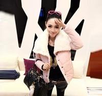 Women's Fashion Jacket Outwear Big Lapel Autumn Winter Warmer Lamb Wool Jacket Outwear Coat W4297