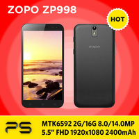 "Freeshipping ZOPO ZP998  MTK6592 Octa core  2G /16G  5.5"" Gorilla