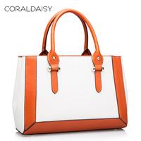 Coraldaisy 2014 Spring Women Leather Handbags Ladies retro Celebrity Tote Bag Fashion Genuine Leather Bag Cowhide Shoulder Bag