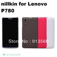 Free shipping 1pcs original nillkin case for Lenovo P780  Frosted shield phone cases +screen protector +retail box