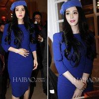 New 2014 Womens Half Sleeve Knee-length Slim Dress O-neck Hem Pleat Spring-summer Dresses 2 colors