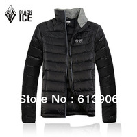 New Men's Down Jacket Ultralight Portable White Goose Down Black Ice Outdoor