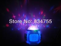 Children Room Sky Star Night Light Projector Lamp Bedroom Alarm Clock W/music free shipping