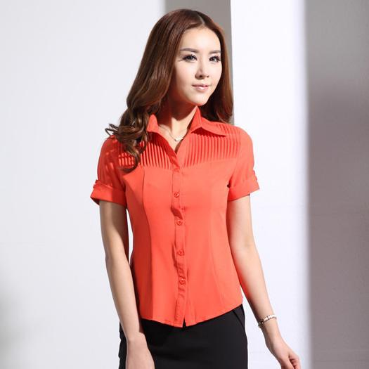 Women'S Blouses And Orange Formal 7