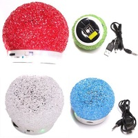 Wholesale Bluetooth Chirstmas Style Snowball Portable Speaker Micro SD TF USB Mini Wireless Stereo Colorful Music Player 750483