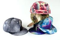 2014 New Galaxy Pattern Space Print Snapback hats Style Women Men Hats Fashion Baseball Hip Hop Cap Retai