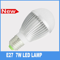 Free shipping 7W E27 LED bulb lamp brighter smd5730 warm lighting lamps AC85-265v