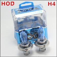 Envios luz de la cabeza Envío Gratis 2X H4 6000K HOD halógena Car Auto lámpara de 100W nuevo kit gratuito(China (Mainland))
