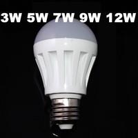 1X Led Globe Bulb Lights For Home 3W 5W 7W 9W 12W 110V/220V Bulb Bombilla E27 Ampoule Lamp For Home Warm/CoLd White
