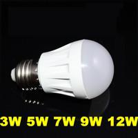 10X Wholesale E27 3W 5W 7W 9W 12W Globe Lamp Led Light 85V-265V 2835SMD Led Spotlight Led Bulbs 3 Year Warranty