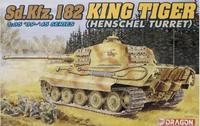 Dragon model 6208 1/35 Sd.Kfz.182 KING TIGER HENSCHEL TURRET Plastic Model
