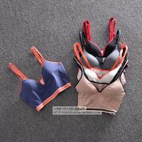 Comfortable ! breathable belt pad yoga running sports vest spaghetti strap wireless underwear bra