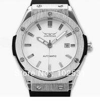 Hot ! Luxury Classic JARAGAR White Dial Calendar Clock Design Military Automatic Mechanical Gift Men's Hand Write Watch