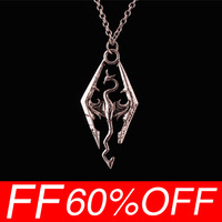 [Free shipping for 1pcs] New popular in Europe and the dinosaur pendant necklace Skyrim elder scrolls dragon pendant necklace