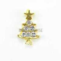 Free Shipping 20 Pcs Origami Owl Floating Charms for Living Locket Wihte Rhinestone Christmas Tree 10x6mm Nail Art(W02941 X 1)