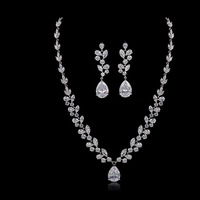 AAA zircon inlaid bride suits the bride jewelry luxury atmosphere lady necklaces earrings gift