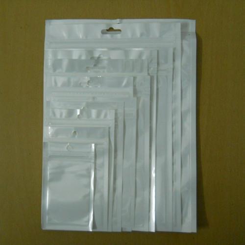 White / Clear Self Sealing Zipper Plastic Retail Packaging Packing Poly Bag, Ziplock Zip Lock Bag Package W/ Hanging Hole(China (Mainland))